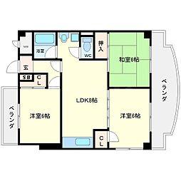プロスエイト[1階]の間取り