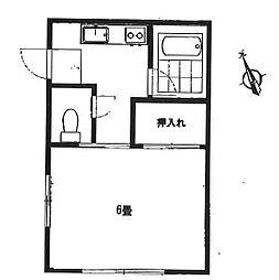 雪美コーポ[1階]の間取り