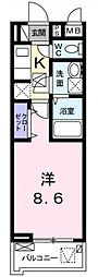 サニーレジデンス稲田本町[103号室号室]の間取り