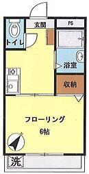 レオ中野ビル[303号室号室]の間取り