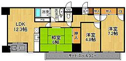 ポートサイド・博多[7階]の間取り