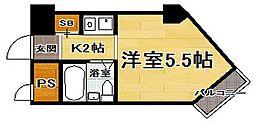 福岡県福岡市東区香椎駅前1丁目の賃貸マンションの間取り