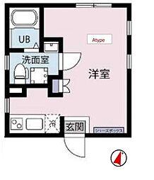 都営三田線 白山駅 徒歩10分の賃貸マンション 5階ワンルームの間取り