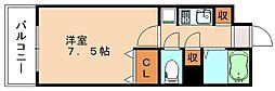 カレッジコート九工大[4階]の間取り