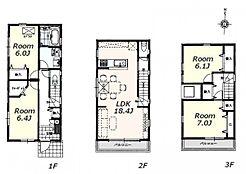 建物参考プラン:間取り/4LDK、延床面積/105.58?、土地建物参考価格/6580万円(税込)