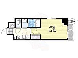 LUMEED CUBE 菊川 PREMIUM 7階1Kの間取り