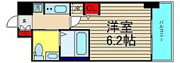 エステムコート難波IVアトリ[13階]の間取り
