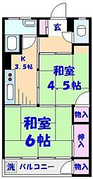 ミヨカワビル[403号室]の間取り