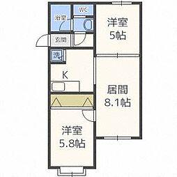 aNEXT札幌第9[4階]の間取り