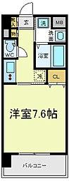 ブランパレス寺田町[3階]の間取り