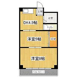 第一平木マンション[2階]の間取り
