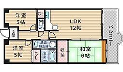 シティパル桜川[9階]の間取り