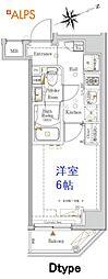 JR京浜東北・根岸線 桜木町駅 徒歩10分の賃貸マンション 7階1Kの間取り