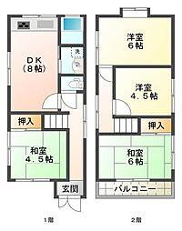 [一戸建] 兵庫県神戸市垂水区塩屋台3丁目 の賃貸【/】の間取り