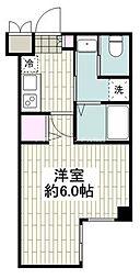 アールエス湘南平塚 1階1Kの間取り