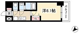 アステリ鶴舞エーナ 12階1Kの間取り