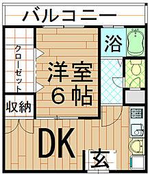 大上マンション[3階]の間取り