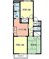 TOKU HOUSE[102号室]の間取り