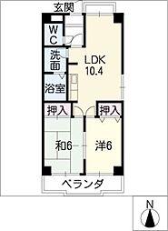 熱田マンション[3階]の間取り