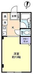 第17中央ビル[2階]の間取り