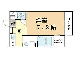 エレガンス新祝園[1階]の間取り