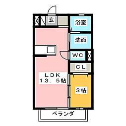 ビギニング A[1階]の間取り