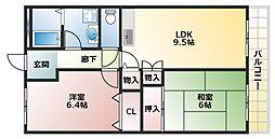 ヒドコート96[3階]の間取り