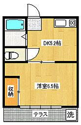 豊コーポ[1階]の間取り
