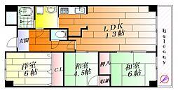 エミネンス辻本2[5階]の間取り