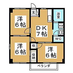 パークドライブイズミ[2階]の間取り