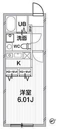 ZESTY神楽坂II[402号室号室]の間取り