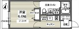 ベルメント東逆井[103号室号室]の間取り