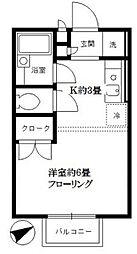 東京都板橋区成増3の賃貸アパートの間取り