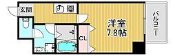 TOYOTOMISTAYPREMIUM梅田西II 4階1Kの間取り
