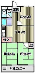 千代田グリーンハイツ[5階]の間取り