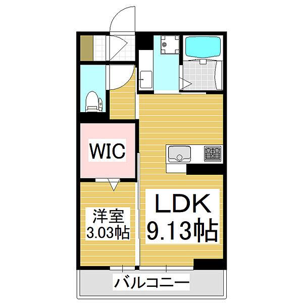 コンフォーティア広丘吉田II[2階]の間取り