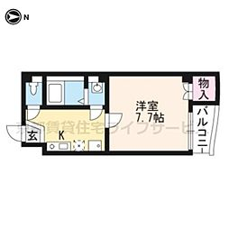 ピースフル京都[202号室]の間取り
