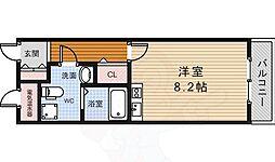 阪急千里線 北千里駅 バス12分 小野原東下車 徒歩6分の賃貸マンション 2階ワンルームの間取り
