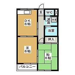 コーポ茨塚[2階]の間取り