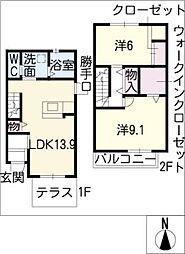 [タウンハウス] 愛知県名古屋市西区又穂町2丁目 の賃貸【/】の間取り
