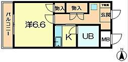 奈良県生駒市中菜畑2丁目の賃貸マンションの間取り
