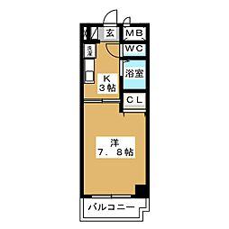 愛知県名古屋市天白区原2の賃貸マンションの間取り
