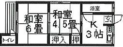 南共栄荘[201号室]の間取り