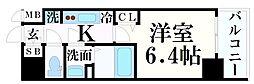 JR東海道・山陽本線 神戸駅 徒歩4分の賃貸マンション 15階1Kの間取り