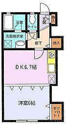 東京駅まで直通・快速停車「都賀駅」徒歩5分・ライブリービル[202 号室]の間取り