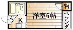 広島県広島市中区国泰寺町1丁目の賃貸マンションの間取り