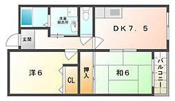 翔開マンション[2階]の間取り