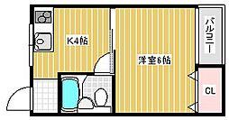 グランドール姫松[5階]の間取り