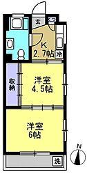 伊藤マンション[301kk号室]の間取り