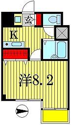 日創・北小金マンション[3階]の間取り